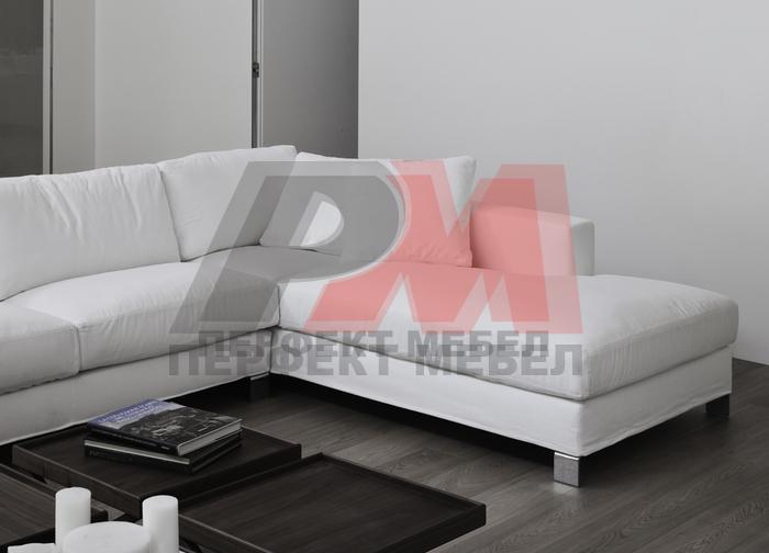ъглова мека мебел с механизъм смайваща