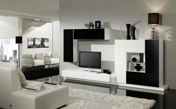 секция в бяло-черно