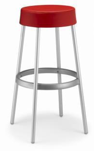 Тапициран бар стол в червено