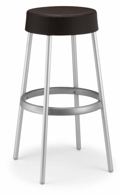 Тапициран бар стол в тъмно кафяво