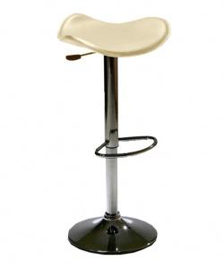 Тапициран бар стол без облегалка,бежов